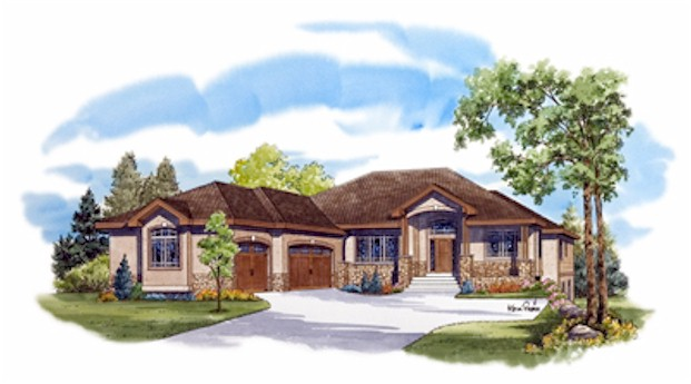 Large Dramatic Contemporary Ranch - House Plans, Home Designs